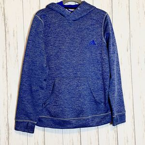 Adidas ClimaWarm Blue Hoodie Pullover Med